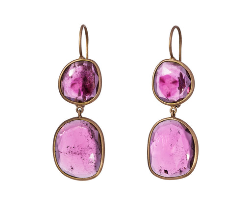 Rose Tourmaline Canna Cava Doppi Earrings - TWISTonline