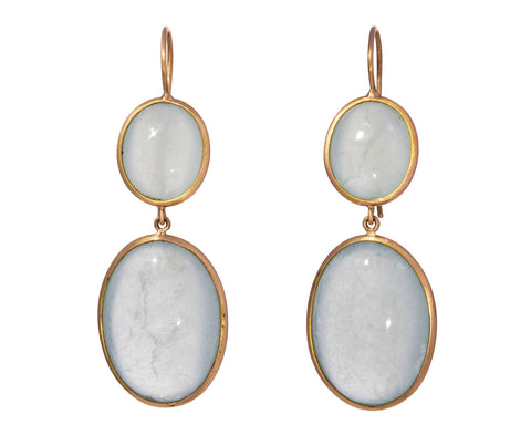 Blue Calcite Canna Cava Earrings - TWISTonline