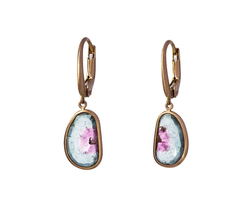 Polychrome Tourmaline Canna Cava Momo Earrings - TWISTonline