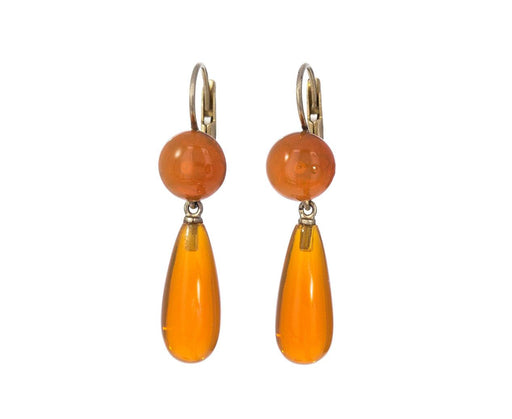 Gocce Bottoni Mexican Fire Opal Earrings - TWISTonline
