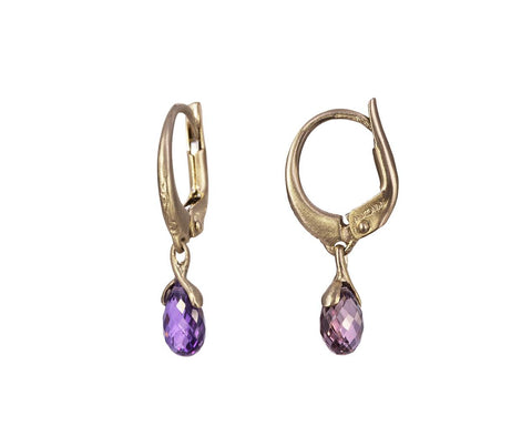 Violet Sapphire Lauren Earrings  zoom 1_anaconda_gold_violet_sapphire_lauren_earrings