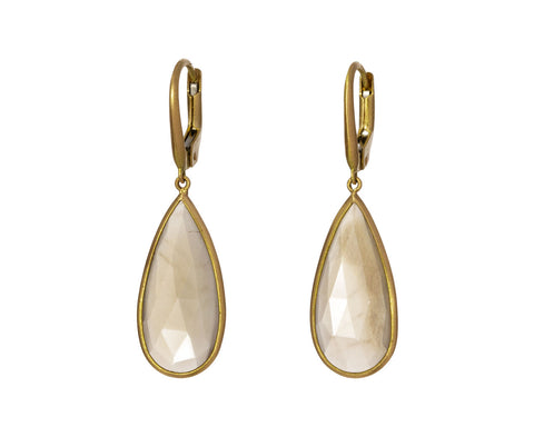 Moonstone Pear Momo Earrings