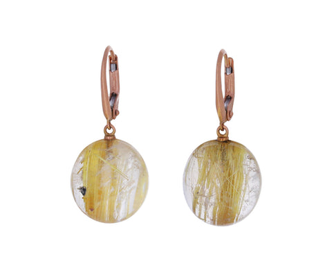 Rutilated Quartz Momo Earrings