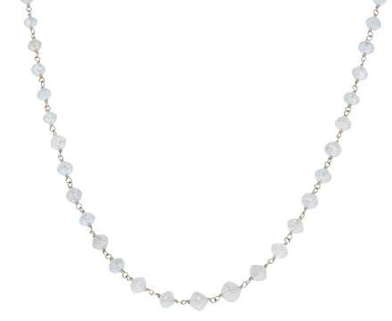 Gray Diamond Rosary Leah Necklace