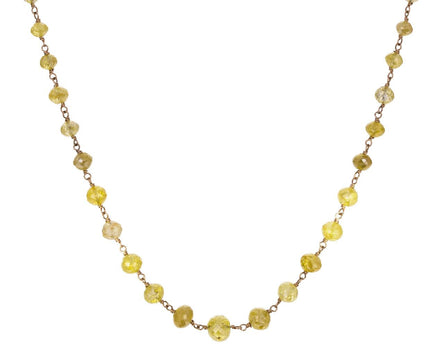 Yellow Diamond Leah Rosary Necklace - TWISTonline