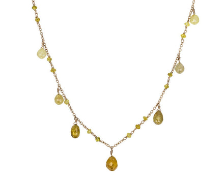 Yellow Diamond Precious Waterfall Necklace - TWISTonline