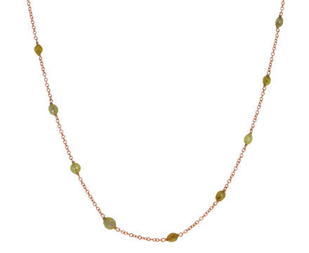 Yellow Diamond Glitter Necklace