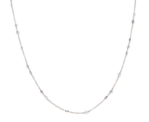 White Diamond Flea Glitter Necklace