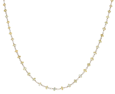 Yellow Diamond Rosary Gancino Diamond Necklace - TWISTonline