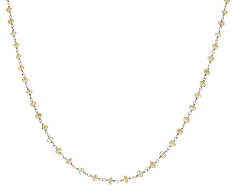 Yellow Diamond Rosary Gancino Diamond Necklace