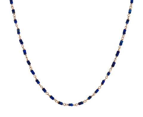 Lapis Rosary Gancino Necklace