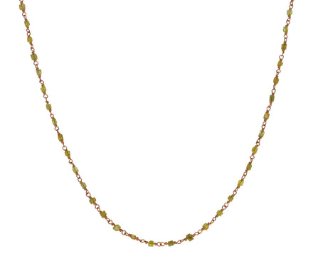 Cubic Yellow Diamond Rosary Gancino Necklace