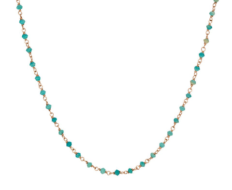 Turquoise Rosary Gancino Necklace