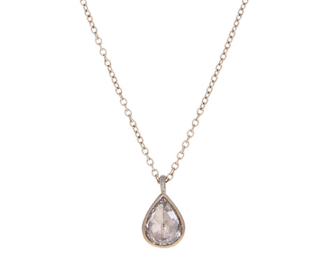 Champagne Diamond Italian Tears Necklace