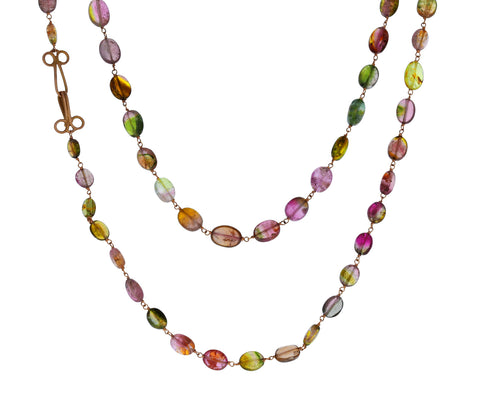 Tourmaline Rosary Gancino Necklace