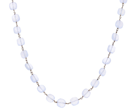 Chalcedony Rosary Gancino Necklace
