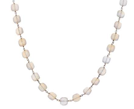 Moonstone Rosary Gancino Necklace