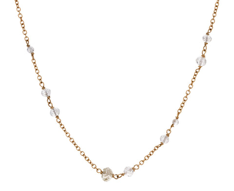 Diamond Rosary Gancino Necklace