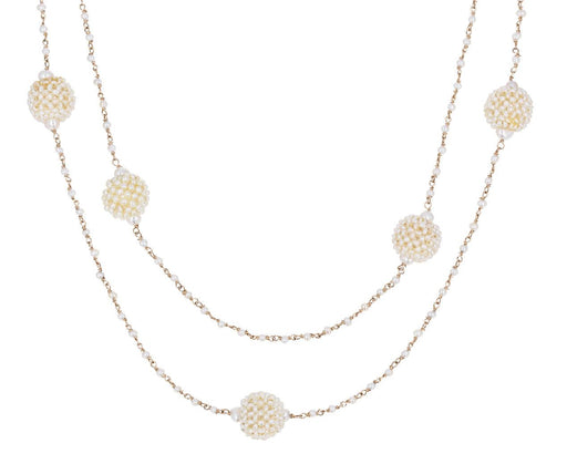 Liam Micro Necklace with Akoya and Keshi Pearls - TWISTonline