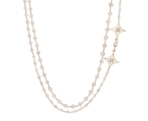 Gray Diamond Zobeide Rosary Necklace