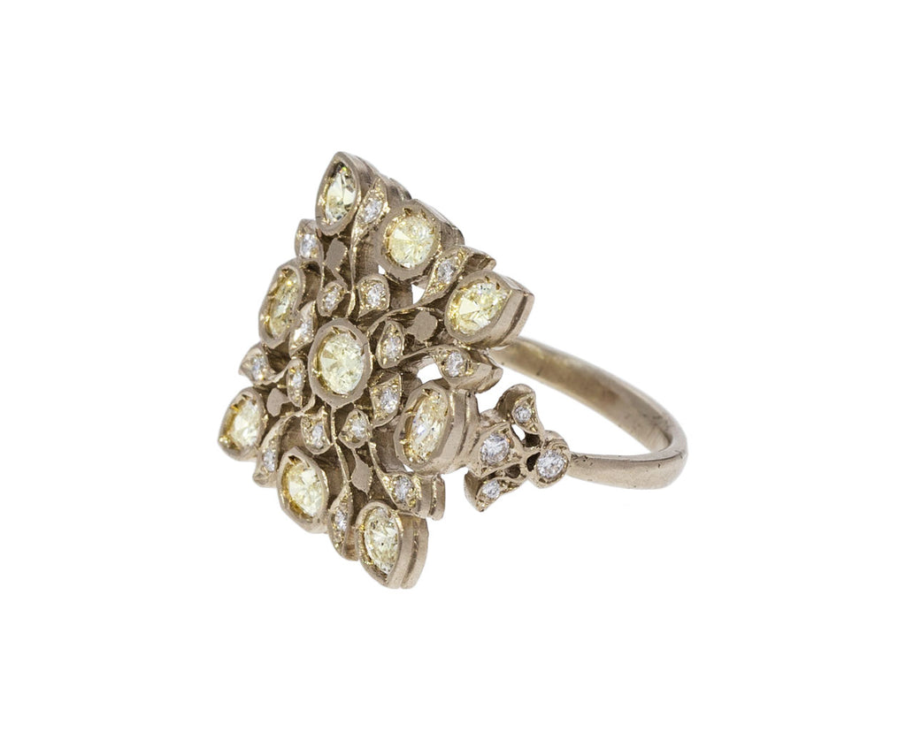 Pale Yellow Diamond Avesh Ring - TWISTonline