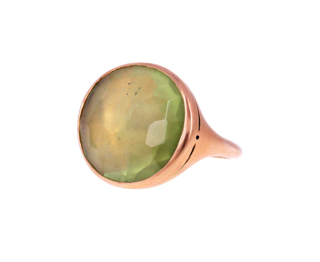 Lime Green Beryl Simple Ring