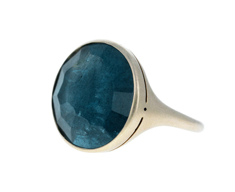 Blue Beryl Simple Ring