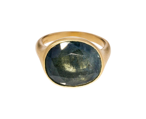 Blue Gray Beryl Djerba Ring - TWISTonline