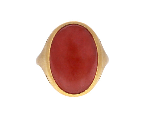 Rhodochrosite New Oval Ring