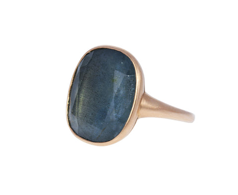 Blue Green Beryl Beauty Alone Ring