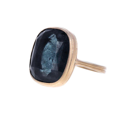 Blue Gray Beryl Flame Ring