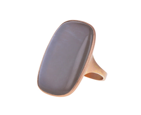 Gray Moonstone Gabriel Ring