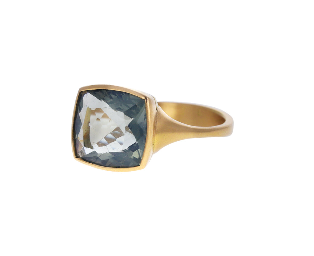 Gray Green Opal Phedra Ring