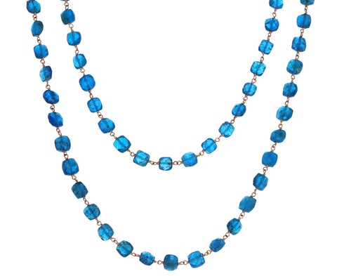 Apatite Rosary Paulette Necklace