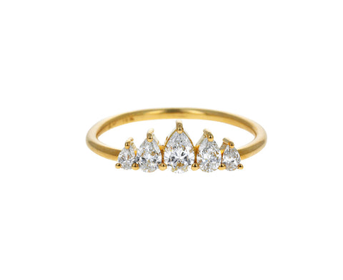 Five Pear Shaped Diamond Band - TWISTonline