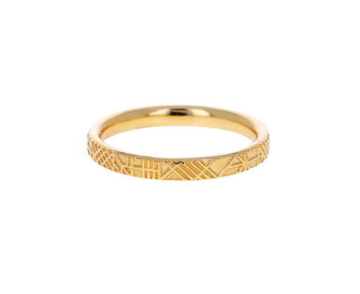 Linear Pattern Wedding Band