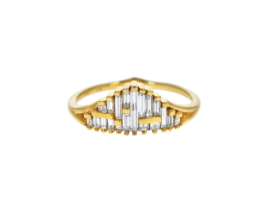 Asymmetric Needle Diamond Cluster Ring - TWISTonline