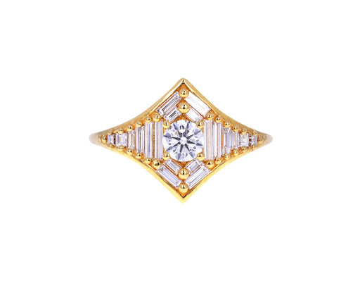 Baguette Diamond Star Ring