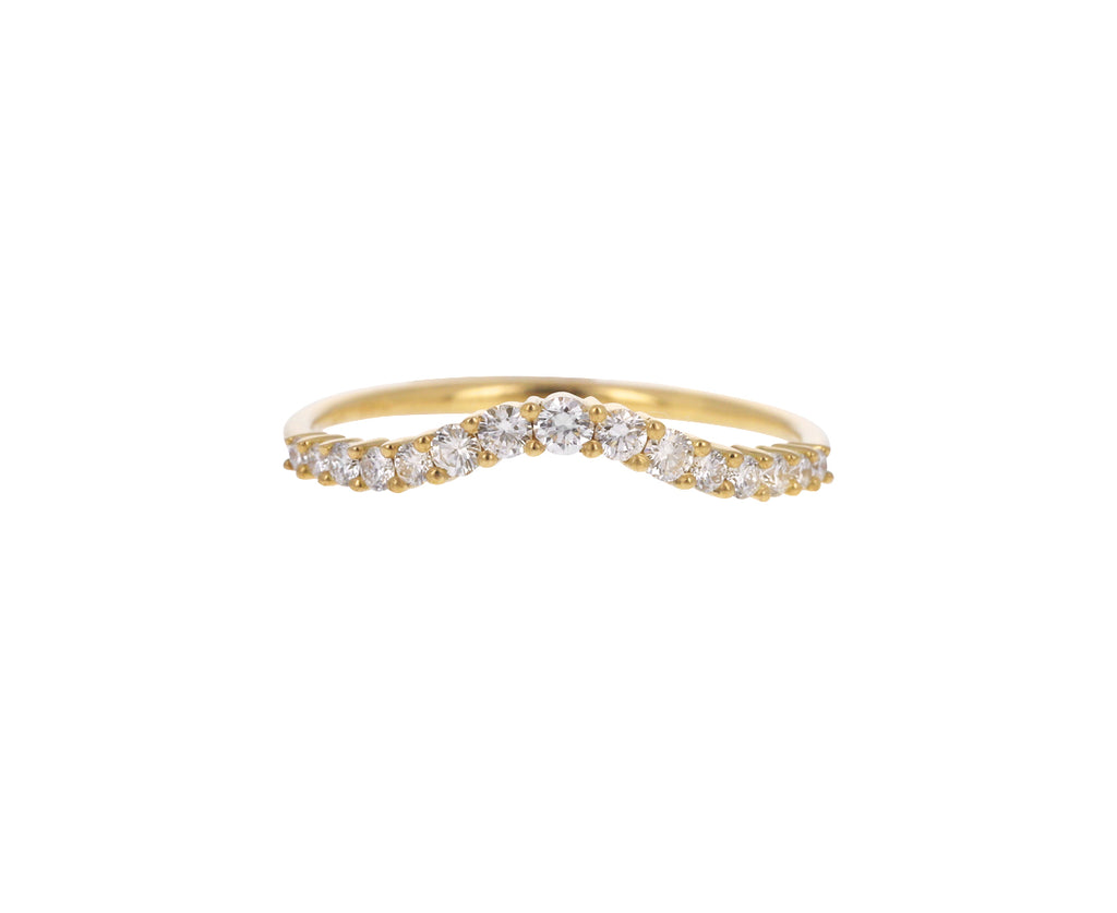 Curved Gradient Diamond Ring