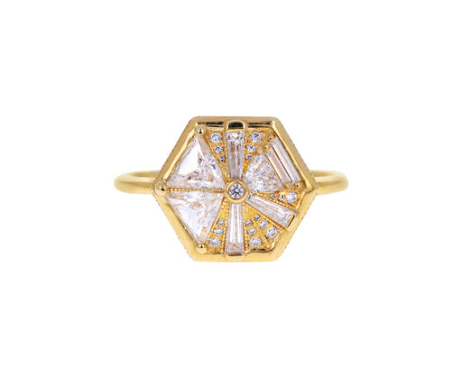 Baguette and Trillion Diamond Hexagon Ring