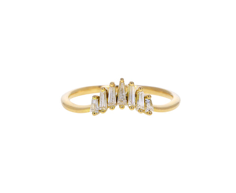 Tapered Diamond Baguette Nesting Band