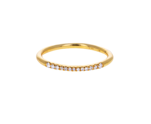 Tall Micro Pave Diamond Ring