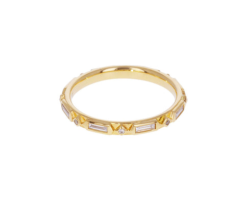 Geometric Diamond Wedding Band - TWISTonline