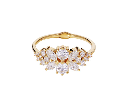 Flora Diamond Cluster Ring - TWISTonline