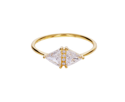 Vintage Diamond Triangle Ring - TWISTonline