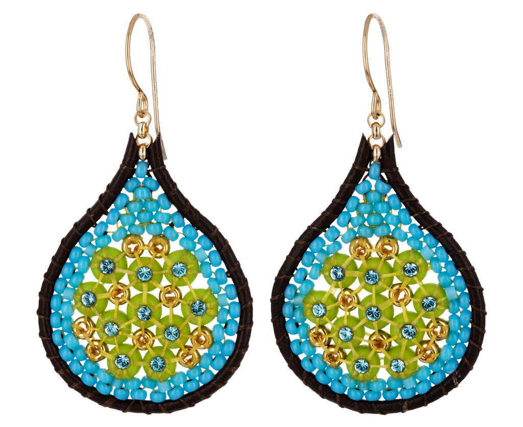 Teardrop Miyuki Beaded Dangle Earrings
