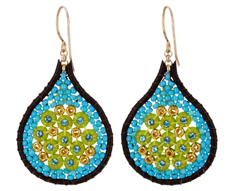 Teardrop Miyuki Beaded Dangle Earrings - TWISTonline
