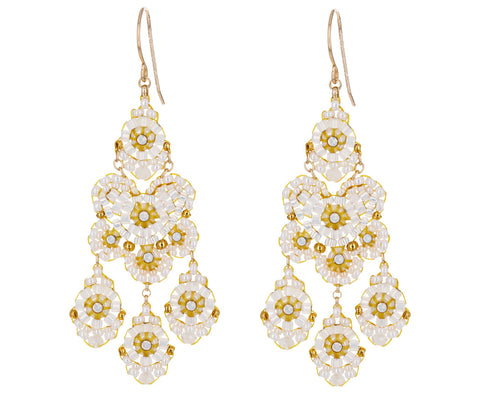 Beaded Miyuki Opalite Dangle Earrings - TWISTonline
