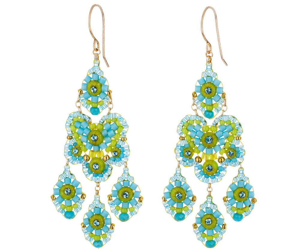 2ef0f312532d9 Blue and Green Miyuki Bead Drop Earrings