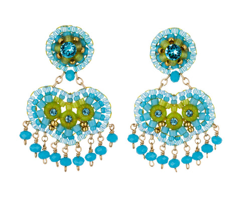 Turquoise Swarovski Dangle Earrings - TWISTonline